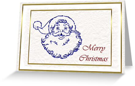 Santa Merry Christmas St. Nicholas by Cheryl Hall