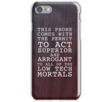 Arrogant & Superior iPhone Case/Skin