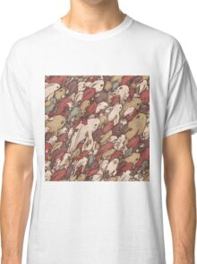 Fishes - red Classic T-Shirt