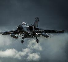 Tornado against storm clouds by AntonyMeadley