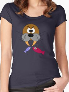 Hungry Walrus  Women's Fitted Scoop T-Shirt
