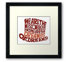 Willy Wonka Hat Dreams - Brown Framed Print