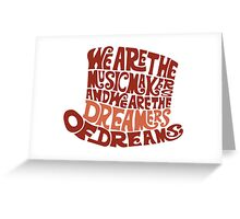 Willy Wonka Hat Dreams - Brown Greeting Card