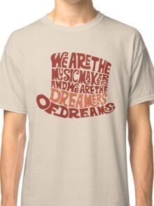 Willy Wonka Hat Dreams - Brown Classic T-Shirt