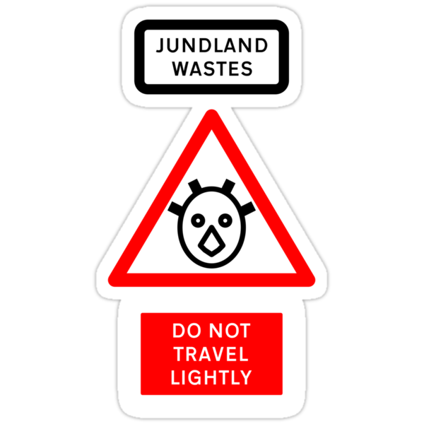 Jundland Wastes Road Sign by Technohippy