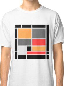 Mondrian style design orange red black gray Classic T-Shirt