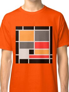 Mondrian style design orange red black gray Classic T-Shirt