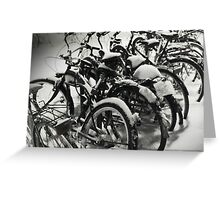 Bikes & Snow Greeting Card