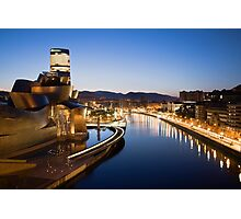 Bilbao at Night Photographic Print