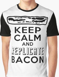 Enterprise Motto: Keep Calm and Replicate Bacon Graphic T-Shirt