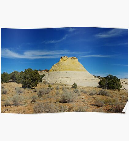 Bicoloured rock hill Poster