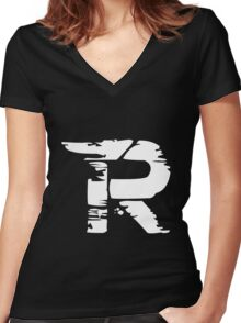 KMax funny nerd geek geeky Women's Fitted V-Neck T-Shirt