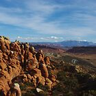 Arches rocks and mountains by Claudio Del Luongo