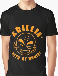 Krillin With My Homies funny nerd geek geeky Graphic T-Shirt