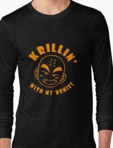 Krillin With My Homies funny nerd geek geeky Long Sleeve T-Shirt