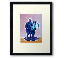 Men in Conversation 3 Framed Print