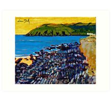 Red Strand Rocks, Cork Art Print