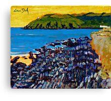 Red Strand Rocks, Cork Canvas Print