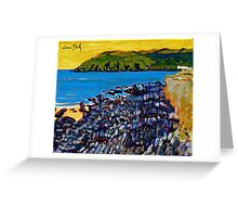 Red Strand Rocks, Cork Greeting Card