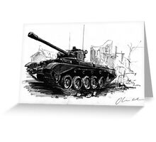 A34 Comet Tank Greeting Card
