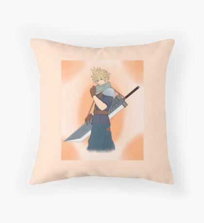 Cloud Strife Throw Pillow