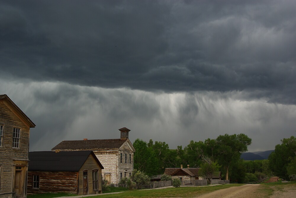 Storm on Bannack, Montana by Claudio Del Luongo