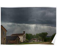 Storm on Bannack, Montana Poster