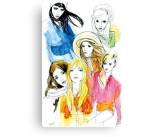 Ink Mix girls Canvas Print