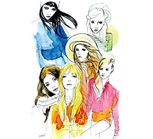 Ink Mix girls Photographic Print