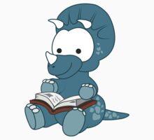Little Bookworm Dinosaur by leannesore