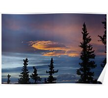Evening Clouds, Rocky Mountains, Colorado Poster