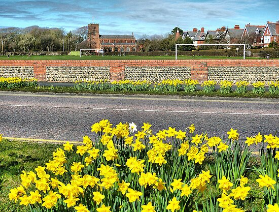 Lytham Coastal Road. by Lilian Marshall