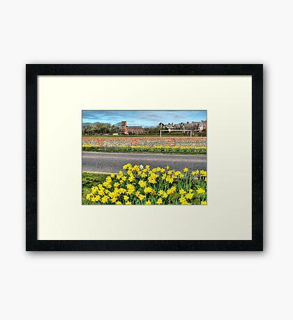 Lytham Coastal Road. Framed Print