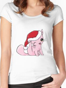 Myu the Candyfloss Cat... at Christmas! Women's Fitted Scoop T-Shirt