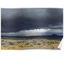 Desert storm, Nevada Poster