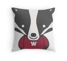 Badger Mascot Chibi Cartoon Throw Pillow
