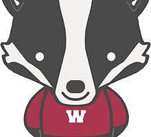 Badger Mascot Chibi Cartoon by RJCSportsArt