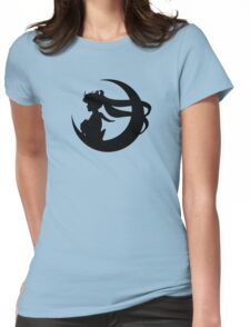 Sailor Moon Silhouette - Black  Womens Fitted T-Shirt