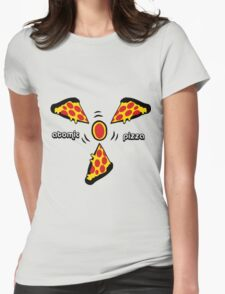 Atomic pizza Womens Fitted T-Shirt