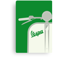 MY VESPA - FROM ITALY WITH LOVE - GREEN Canvas Print