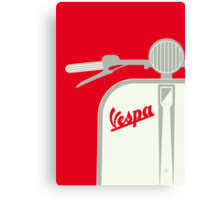 MY VESPA - FROM ITALY WITH LOVE - RED Canvas Print