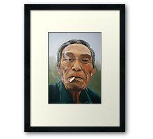 Male smoking Framed Print