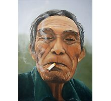 Male smoking Photographic Print