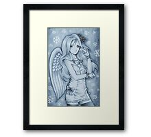 Winged Snow Lolita Framed Print
