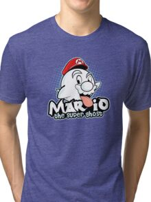 Mario : The Super Ghost Tri-blend T-Shirt