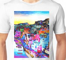 Night in Naples, Italy Unisex T-Shirt