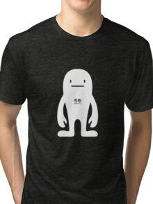 BasicDeki - White Tri-blend T-Shirt