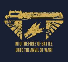 Into the fires of battle Kids Tee