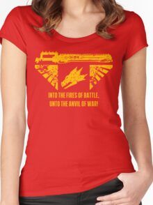 Into the fires of battle Women's Fitted Scoop T-Shirt