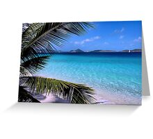 Soloman Beach Morning - St. John Greeting Card